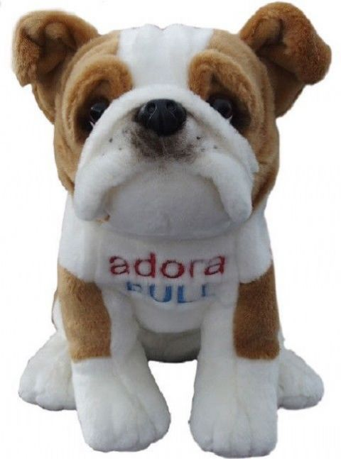 British Bulldog, gift wrapped or not with or without engraved tag toy dog